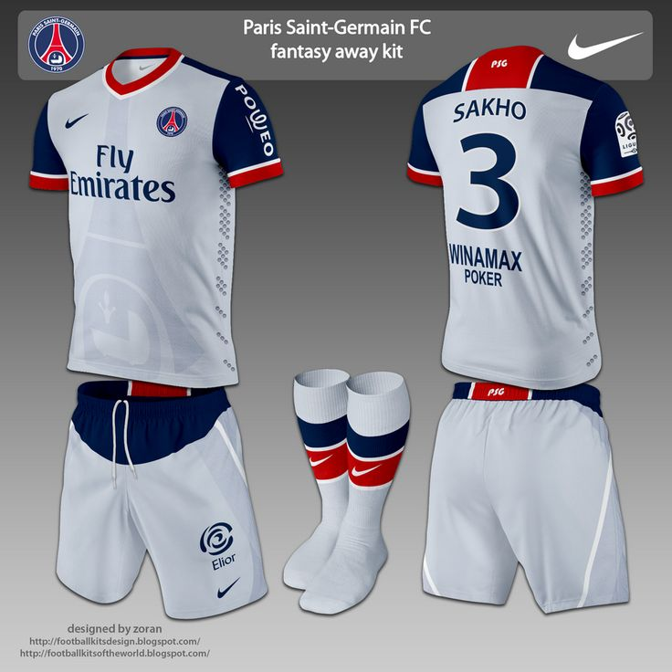 de fútbol kits de diseño: Paris Saint-Germain FC fantasía kits