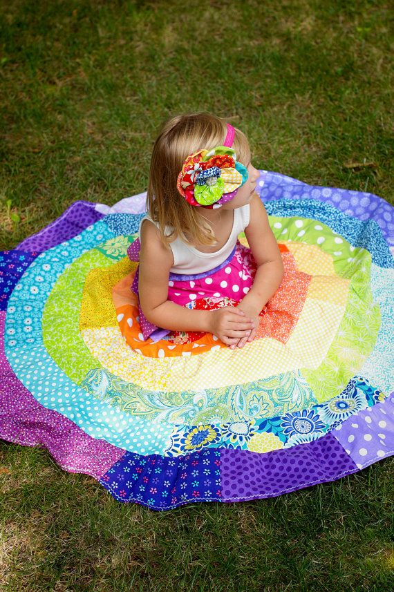 RAINBOW Dress Little Girls Maxi Dress Matilda Jane by ninislove
