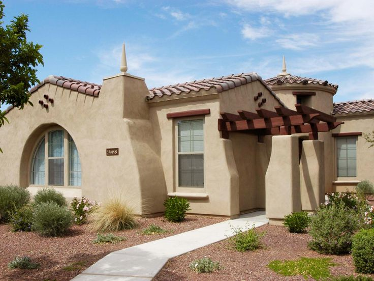 134 best house color schemes images on pinterest spanish for Spanish bungalow exterior paint colors