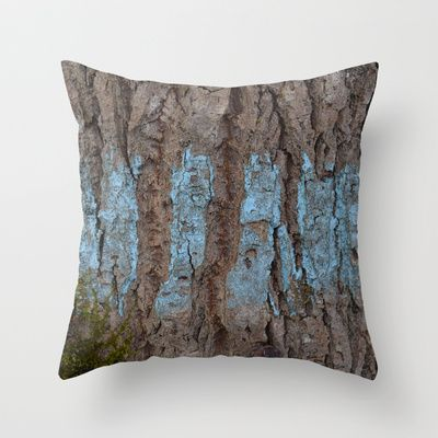 "Throw Pillow / Indoor Cover (16"" X 16"") • 'Blå bark' • IN STOCK • $20.00 • Go to the store by clicking the item."