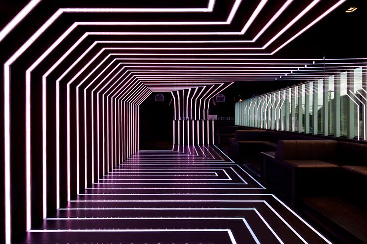 D.EDGE — night club with a crazy neon light show. Remember, night life just…  http://www.justleds.co.za