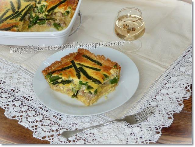 Gizi-receptjei.  Várok mindenkit.: Hétvégi receptajánló!!! Spárgás-halas pite.