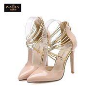 Новый европейский стиль мода сандалии рыбы рот женщины острым носом высокие каблуки сексуальные ботинки женщина туфли на высоком каблуке Большой размер 35-40 бесплатная доставка