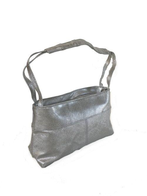 7e7cb5d5aa66 Silver Leather Shoulder Purse, Evening Stylish Handbag, Ivanna ...