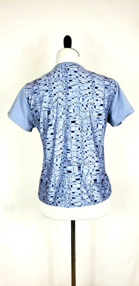 e0e7672172f COLUMBIA Titanium Women's Size Medium Periwinkle S/S V-Neck Top ~ EUC #