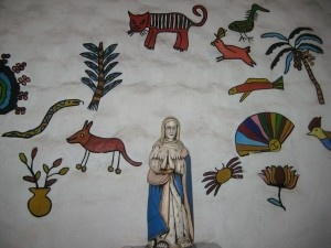 drawings in the church on Mancarron I          Solentiname, Nicaragua