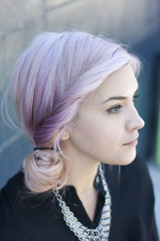 lavender hair. so pretty
