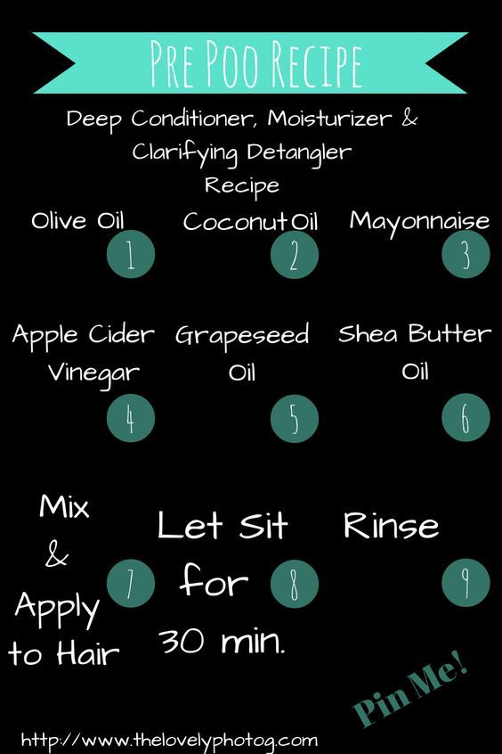 Natural Hair Pre Poo Recipe