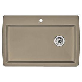 Blanco Diamond 22.0-In X 33.5-In Truffle Single-Basin Granite Drop-In Or Undermount 1-Hole Residential Kitchen Sink 4412