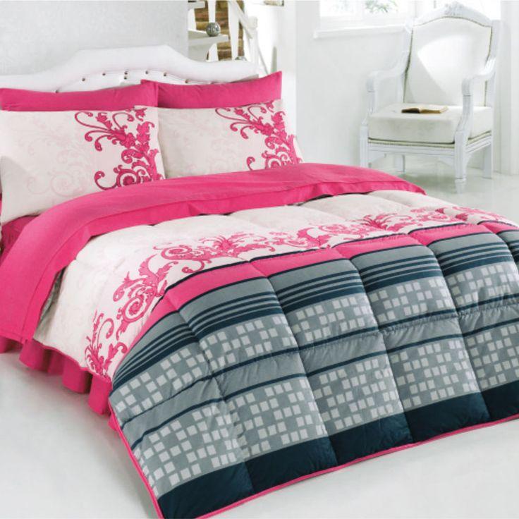 Kristal Anka uyku seti kırmızı tek kişilik modeli