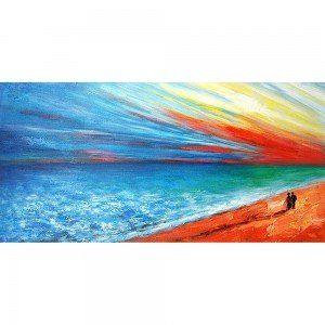 On The Beach Hand Painted Canvas Art