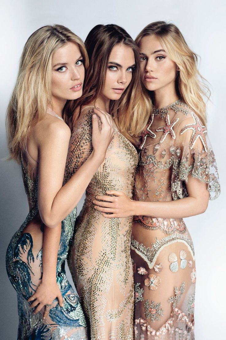 Sam McKnight On April Vogue's Cover Hair - Cara, Georgia & Suki (Vogue.co.uk)