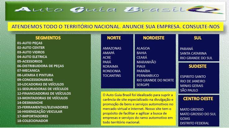 Auto Guia Brasil Site especializado em anúncios de empresas do ramo automotivo. Fácil , Rápido e Seguro. Atendemos todo território nacional.