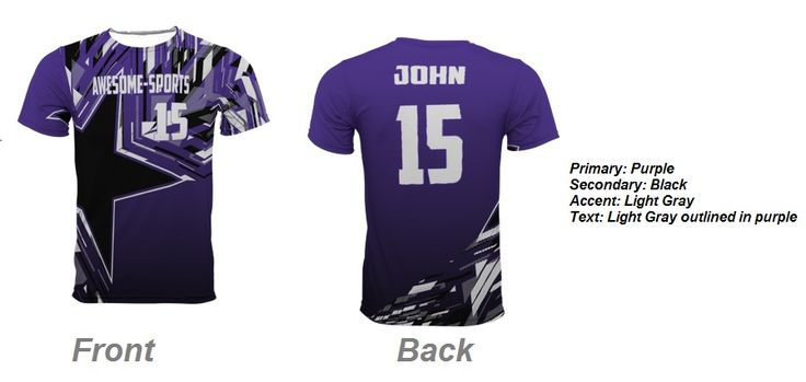 team uniforms custom made | Spectrum sublimation Crew neck intricately