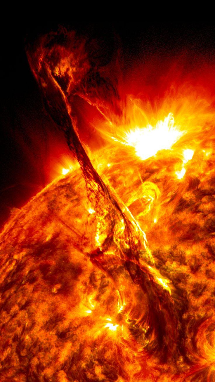 Solar Flare from Sun Eruption (NASA) - Gesteigerte Sonnenaktivität spielt im eBook eine Rolle.