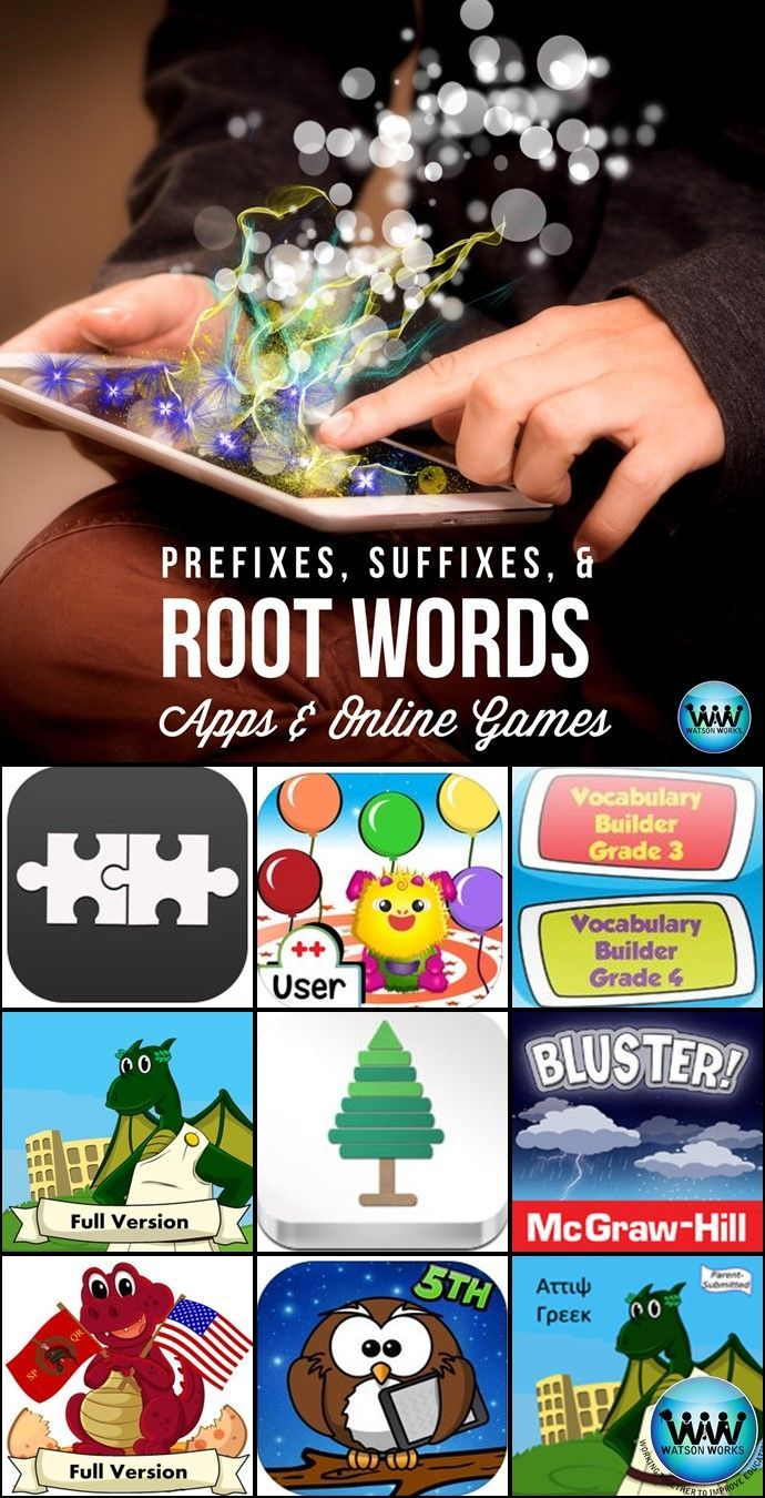 Vocabulary And Word Analysis Are Critical Skills In 3rd 5th Grade Here Are Some Apps Online Games And Other Resources You C Root Words Prefixes Online Games