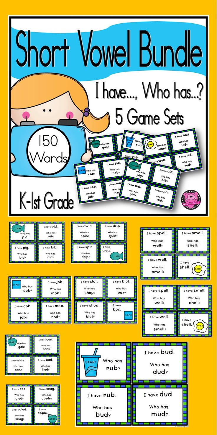 Students will have fun learning short vowels with these activities for Kindergartens through First Grade. #teacherspayteachers  #phonics  #iteachfirst  #educationfirst