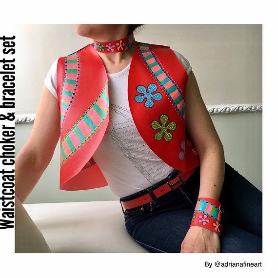 Chaleco,boho,chaleco para mujer,Hippie,gypsy,sin mangas,collar,brazalete,ropa de fiesta,grunge,regalo para mujer,festival,inspirado moschino