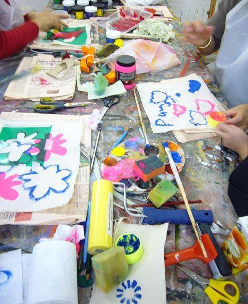 workshop textiel beschilderen