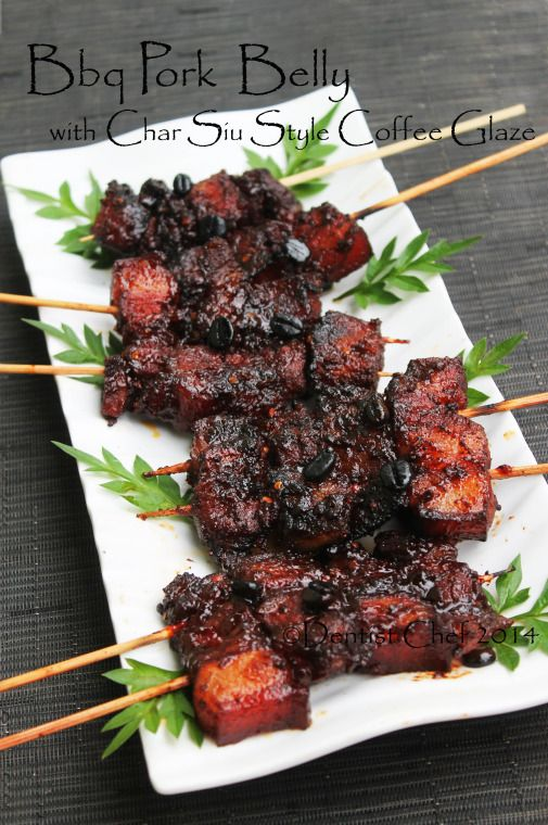 barbeque pork belly recipe honey coffee glazed roasted pork belly chinese style char siu pork belly