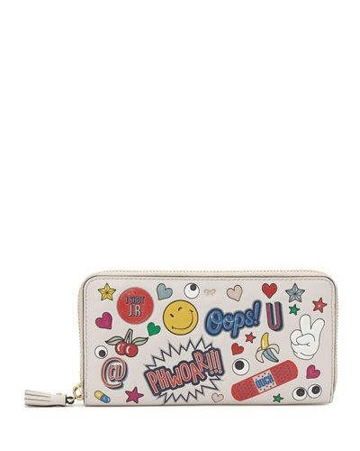 ANYA HINDMARCH Anya Hindmarch. #anyahindmarch #bags #leather #wallet #sticker #accessories #