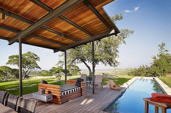 Story Pool House, Lake Flato Architects.