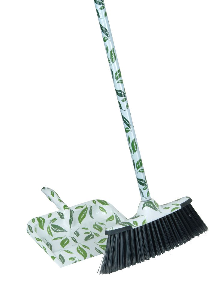 2-Piece Leaf Broom and Dustpan Set