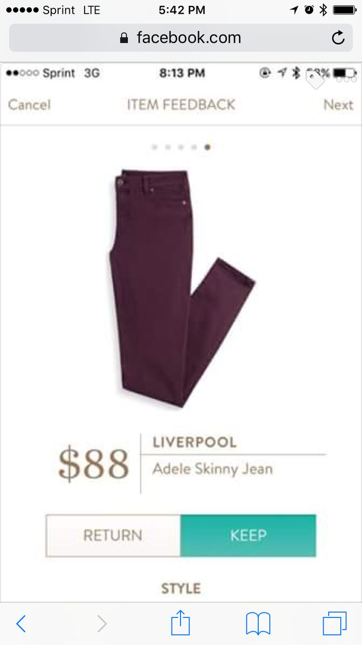 Love this dark merlot color for fall. I need some new colored jeans