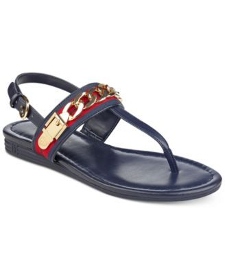 c79a7762c435 TOMMY HILFIGER Tommy Hilfiger Hakim Flat Thong Sandals .  tommyhilfiger   shoes   all women