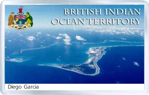 $3.29 - Acrylic Fridge Magnet: British Indian Ocean Territory. Diego Garcia Island