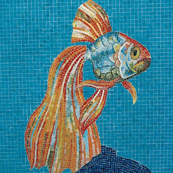 long tailed gold fish fish patternsmosaic patternsmosaic designsmosaic