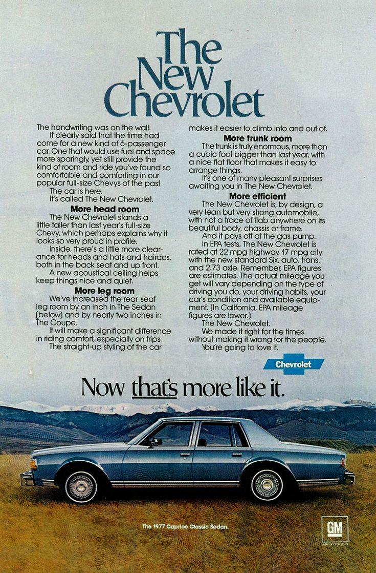 1977 chevy brochures