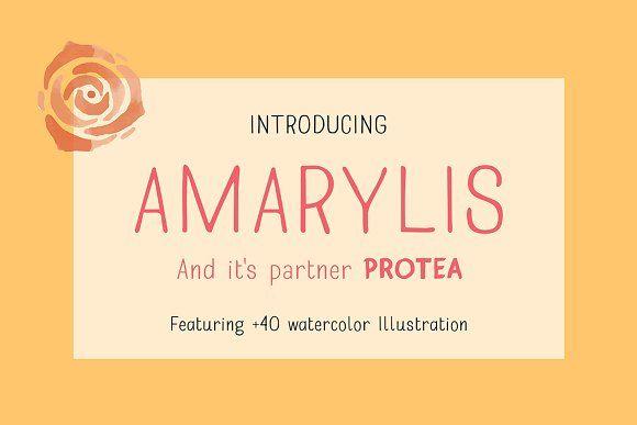 Amarylis Handcrafted Typeface by akufadhl on @creativemarket