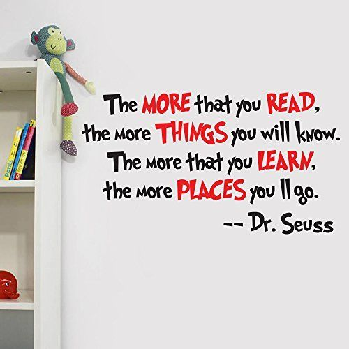 V&C Designs Ltd (TM) Dr Seuss The Lorax Quote Playroom Children's Bedroom Baby Nursery Wall Sticker Wall Art Wall Vinyl Wall Decal Wall Mural - Regular Size (Large size also available)