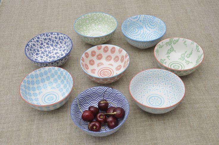 Japanese Blossom Bowl Blue Trellis | DotComGiftShop