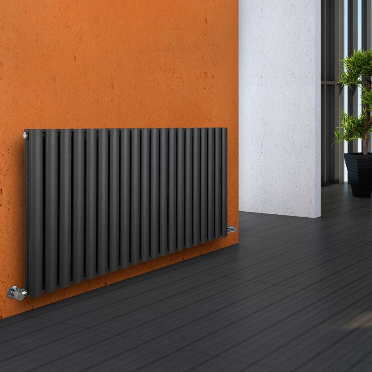 Milano Aruba - Luxury Anthracite Horizontal Designer Double Radiator 635mm x 1180mm