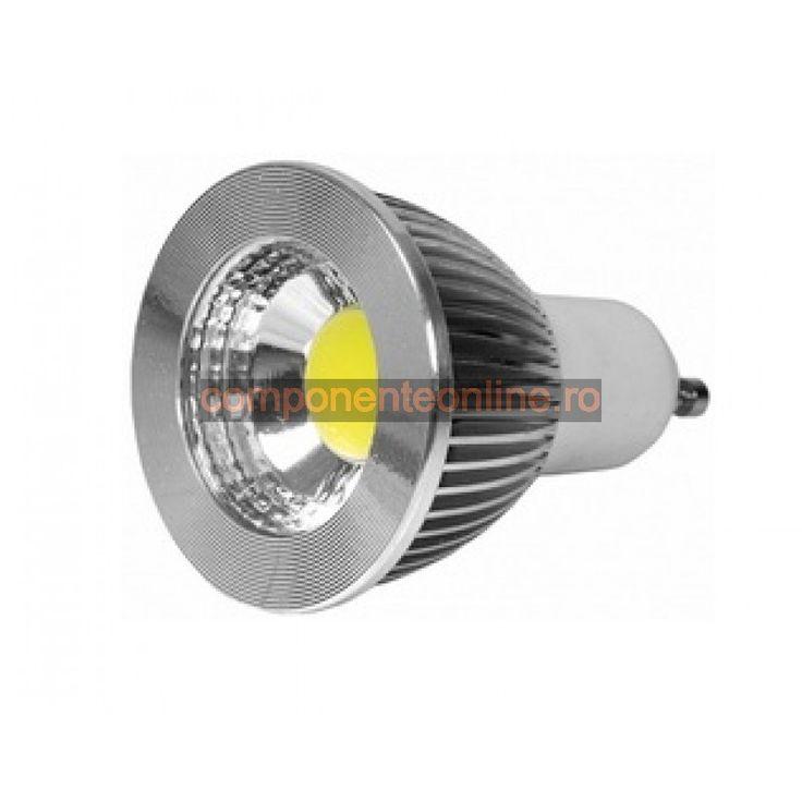 Spot cu arie LED, 3W, 220V, dulie GU10, lumina alba - 116633