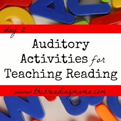30+ Auditory Activities for Teaching Reading | This Reading Mama