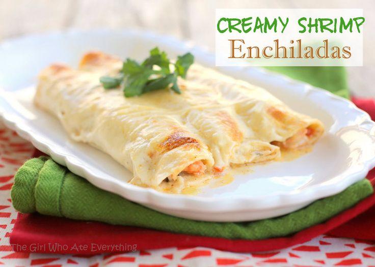 Creamy Shrimp Enchiladas - a fun dinner for date night.