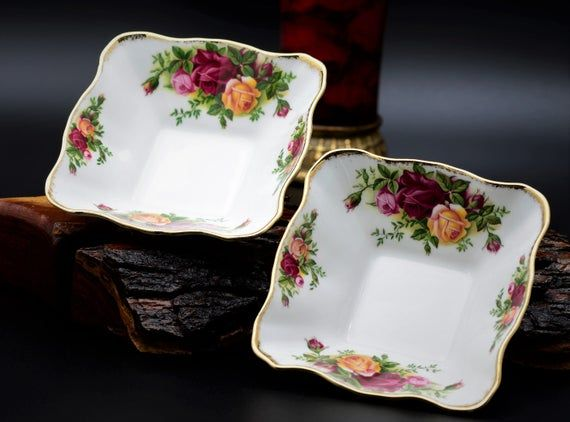 Royal Albert Old Country Rose Chintz Collection Square Dessert Plate