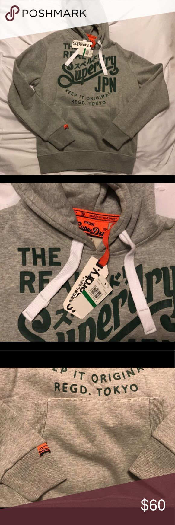 Superdry Hoodie Size Large New with tags some cracking on the font. Size Large Superdry Tops Sweatshirts & Hoodies
