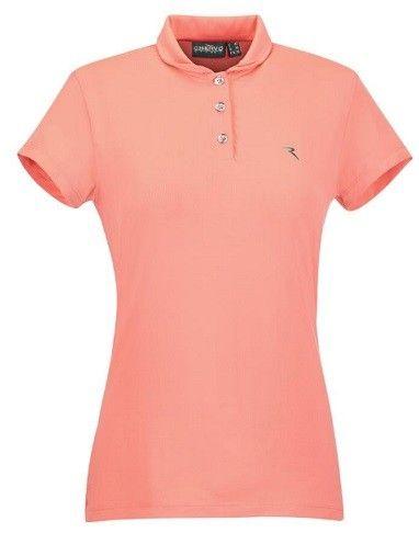 Polo Chervo Golf APRES, color coral, para mujeres. Fabricado con tejidos de la mejor calidad, 92% Polyamida y 8% Elastano.