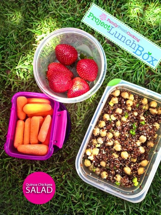 Quinoa & Chickpea Salad - Project LunchBox | MarlaMeridith.com