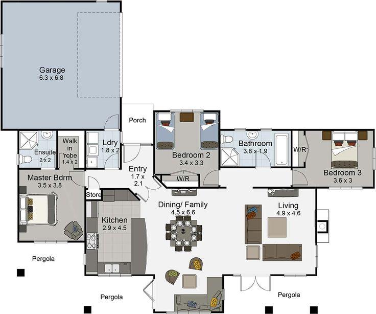 The Riveria flRiviera 3 bedroom house plan Landmark Homes builders nz