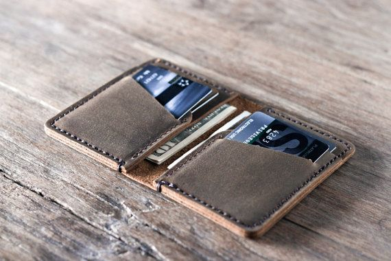 Wallet Leather Wallet Personalized Leather Wallet by JooJoobs