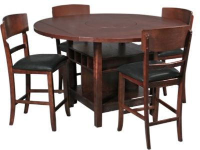 Dining Groups   Crown Mark Conner 5-Piece Counter-Height Drop Leaf Dining Set   Homemakers Furniture