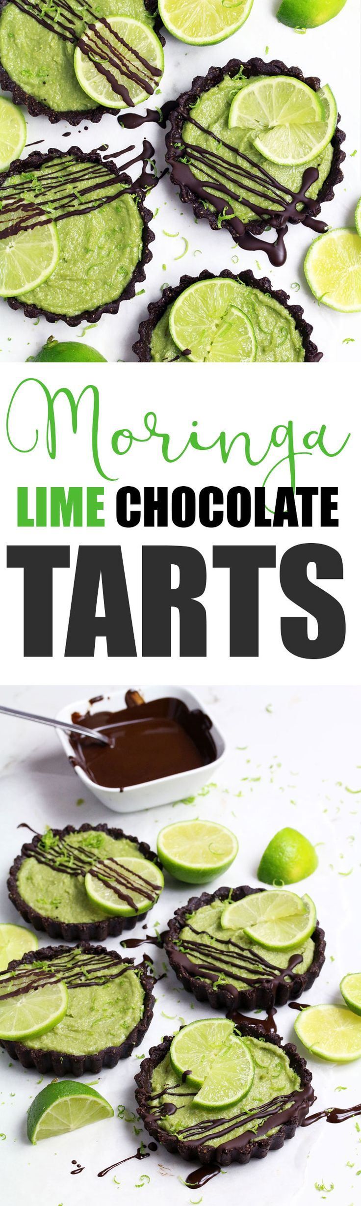 Moringa Lime Chocolate Tarts - UK Health Blog - Nadia's Healthy Kitchen