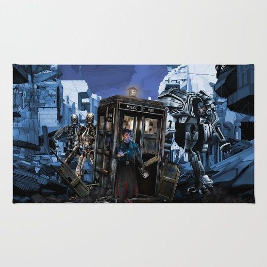 10th Doctor who trapped in the terminator war zone RUG  #rug #terminator #chrome #dayofthedead #cyborg #skynet #arnoldschwarzenegger #schwarzenegger #t800 #theterminator #genisys #terminator2 #dtfan4life #tardisdoctorwho #doctorwho #10thdoctor #davidtennant