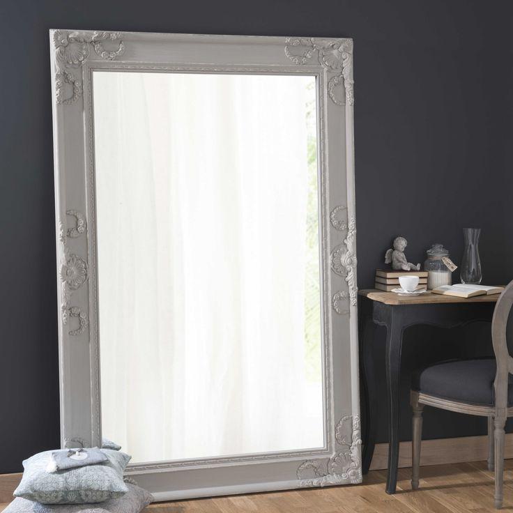 Spiegel met lijst van hout en kunsthars, hoogte 180 cm, ÉLÉONORE