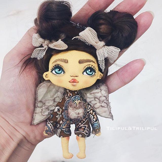 А вот ещё няшечка p.s продана #etsy #angel #craft #handmade #кукларучнойработы #брелок #брелокручнойработы
